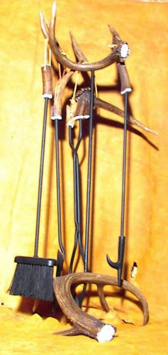 Antler Fireplace 5pc Tool Set