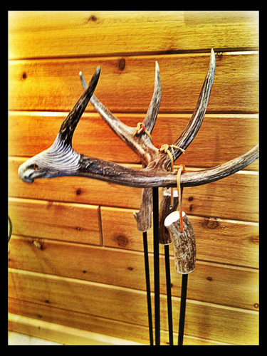 Antler Fireplace 4pc Tool Set