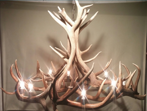 The Moon River Elk Antler Chandelier