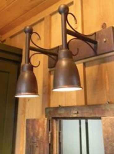 St. James Copper Custom Dual Down Shade Lanterns