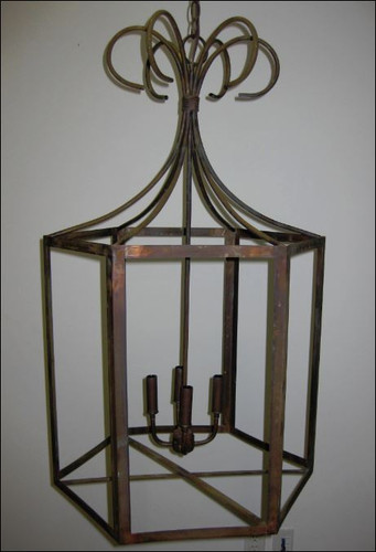 St. James Remington Copper Lantern