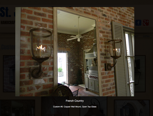 St. James French Country Lantern
