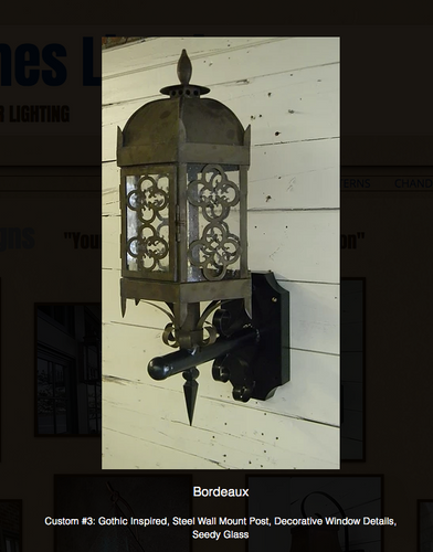 St. James Bordeaux Copper Lantern