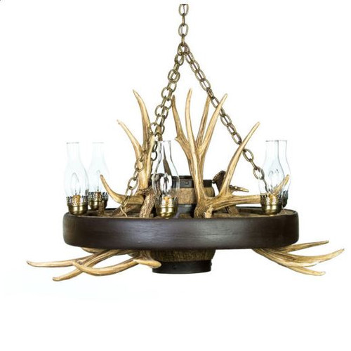 "Rustic and Wild Wagon Wheel Chandelier, Reproduction, 41""Wide by 23""Tall"