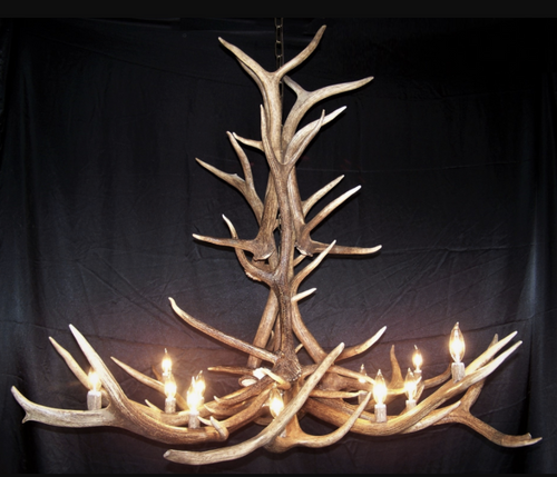 The Arizona Elk Antler Chandelier, 12 Lights