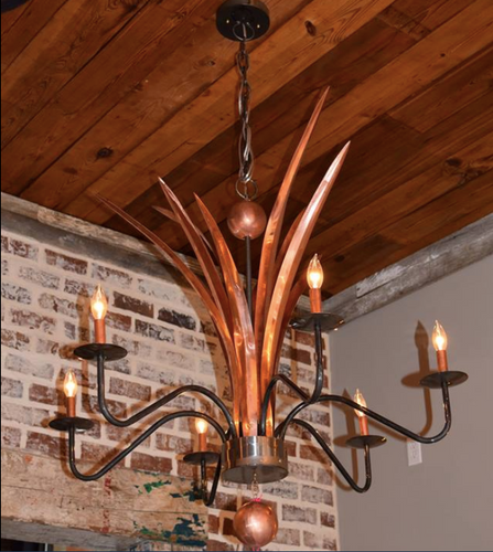 St. James Cancun Copper Chandelier