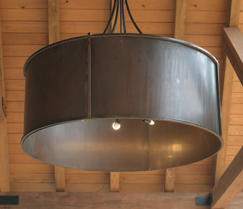 St. James Round Drum Copper Chandelier
