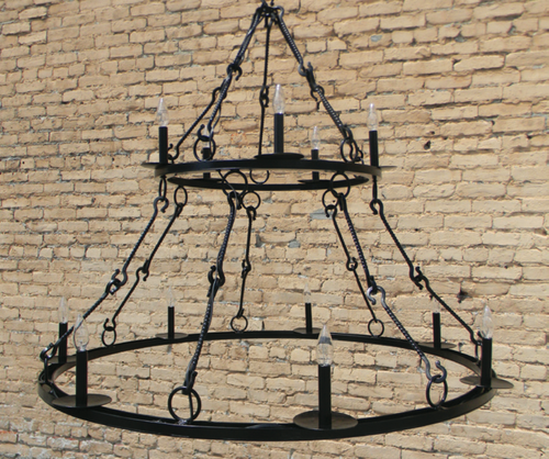St. James King Arthur 2 Tier Steel Chandelier