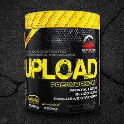 UPLOAD® is an ultra-concentrated pre-workout performance enhancer created and tested by Alpha Pro Nutrition®.