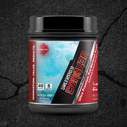 CONQU3R Unleashed is an all-in-one formula that contains only the highest quality ingredients, including 5 patented ingredients, an unparalleled feat in sports nutrition!
