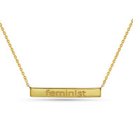 Feminist Necklace, 10K