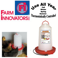 Heated 'All Seasons' Electric Chicken / Poultry / Fowl Water Fountain