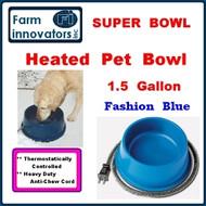 Premium Heated Dog, Cat & Pet Water Bowl--1.5 Gallon (Blue)