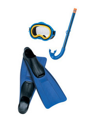 INTEX MASTER SWIM SWIMMING POOL LAKE MASK SNORKEL DIVING GOGGLES FIN SET
