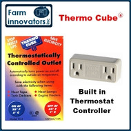 THERMO-CUBE  THERMOSTATICALLY CONTROLLED ON/OFF OUTLET