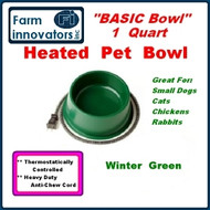 Heated Pet Dog & Cat Water Bowl for Small Pets--1 quart
