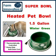 Premium Heated Outdoor Dog, Cat, & Pet Water Bowl--1.5 Gallon