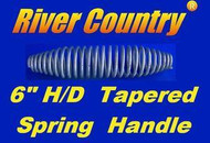 "6"" INCH STAINLESS STEEL SPRING HANDLE For BBQ GRILLS, SMOKERS, & WOOD FURNACES"