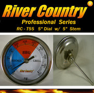 "5"" River Country Adjustable BBQ, Grill, Smoker & Pit Thermometer (RC-T55) (5"" Stem)"