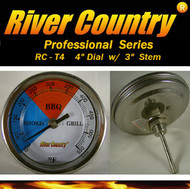 "4"" River Country Adjustable BBQ, Grill, Smoker & Pit Thermometer (RC-T4)"