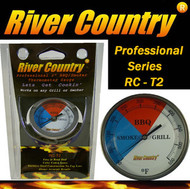 """2"""" River Country BBQ Grill, Smoker and Pit Thermometer (RC-T2)"""