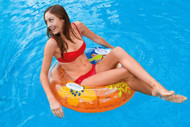 INTEX TRANSPARENT TUBE INFLATABLE FLOATING SWIMMING POOL LAKE FLOAT RAFT