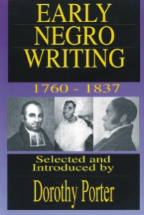 Front cover: Early Negro Writing 1760-1837