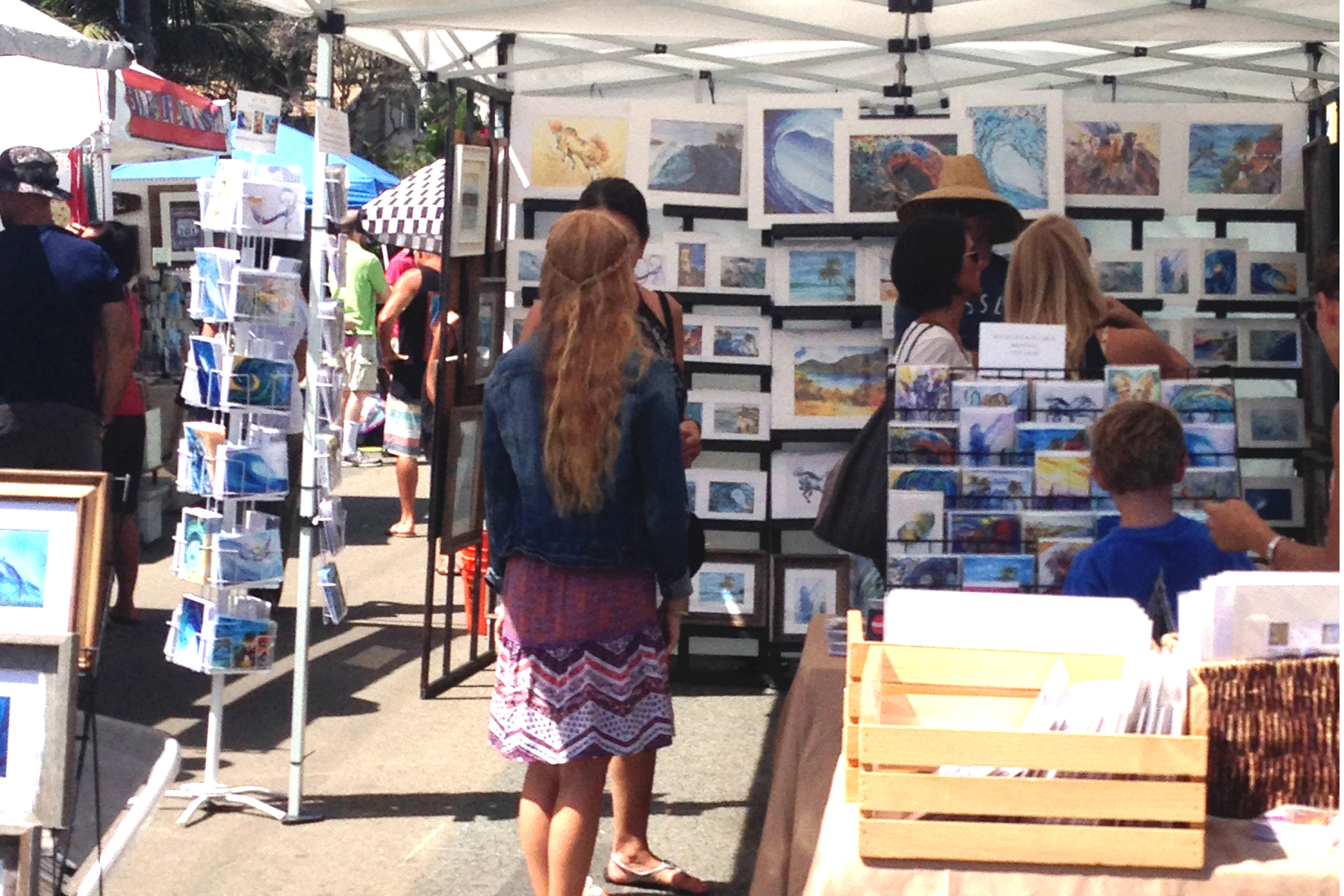 Leucadia Artwalk Artdivas Booth 2015