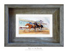 4 x 6 inch Day at the Races print in a 5 x 7 inch weathered grey wood frame