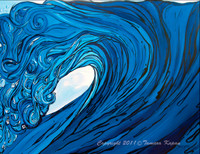 Abstract Blue Wave titled Frolic by Tamara Kapan