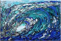 Original Abstract Wave by Tamara Kapan titled Gimme' Shelter