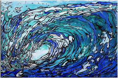Original Abstract Wave by Tamara Kapan titled Gimme' Shelter