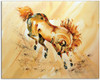 Golden Prince horse watercolor painting by Dotty Reiman