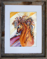Rein Dance fine art print by Dotty Reiman shown in an 11 x 14 frame.