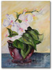 Morning Flower Orchid Watercolor Painting by Dotty Reiman