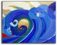 Mosaic Wave - SOLD Abstract Surf Art by Tamara Kapan
