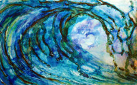Original Wave Art Painting titled Nautilus by Tamara Kapan