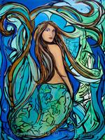 Pangaea Original Mermaid Painting by Tamara Kapan