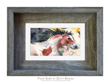 4 x 6 inch horse print in a 5 x 7 inch frame by Dotty Reiman