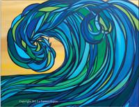 Rogue Wave - SOLD Original Abstract Wave Painting by Tamara Kapan