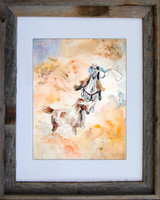 Horse Watercolor Wall Art titled Round Up by Dotty Reiman
