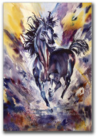 Runaway Watercolor Horse Art by Dotty Reiman