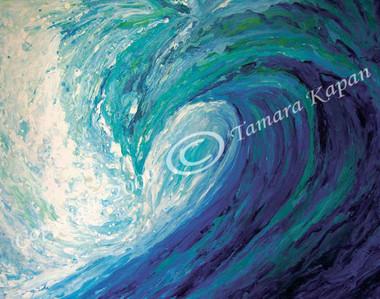 Blue Wave Original Painting by Tamara Kapan