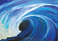 Teahupo'o wave painting by Tamara Kapan
