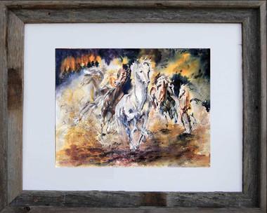 Wild Escape 8 x 10 inch fine art print framed in an 11 x 14 inch barn wood frame