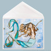 Sweet Dreams mermaid greeting card by Tamara Kapan