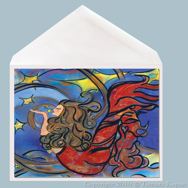 Mermaid Greeting card titled Creating Inspiration by Tamara Kapan
