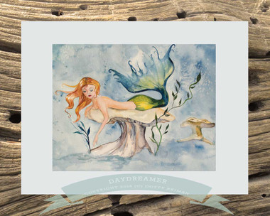 Mermaid Art by Dotty Reiman titled Daydreamer