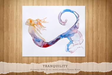 Mermaid Print titled Tranquility by Tamara Kapan