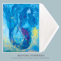 Mermaid Greeting Card by Tamara Kapan titled Moving Forward